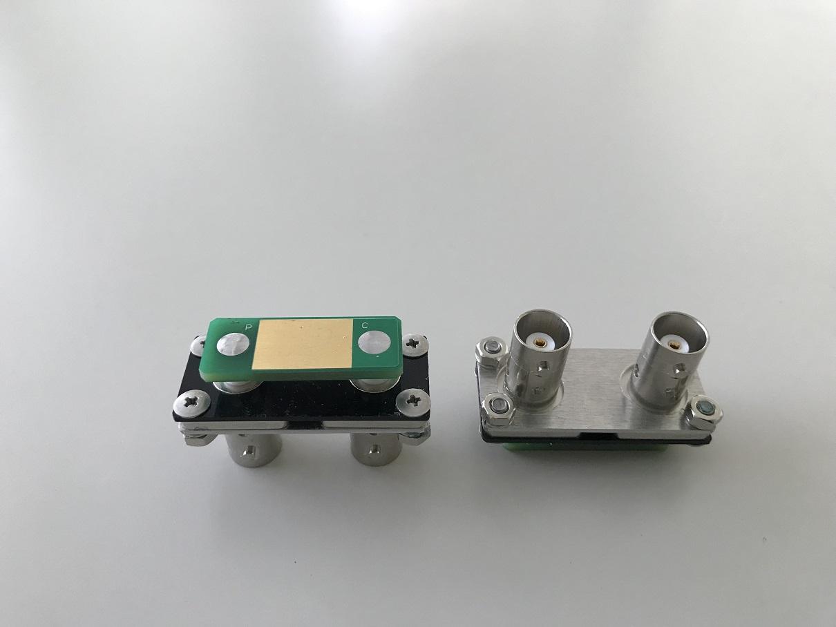 ケルビンクリップ用変換コネクタ BNC2T-KE