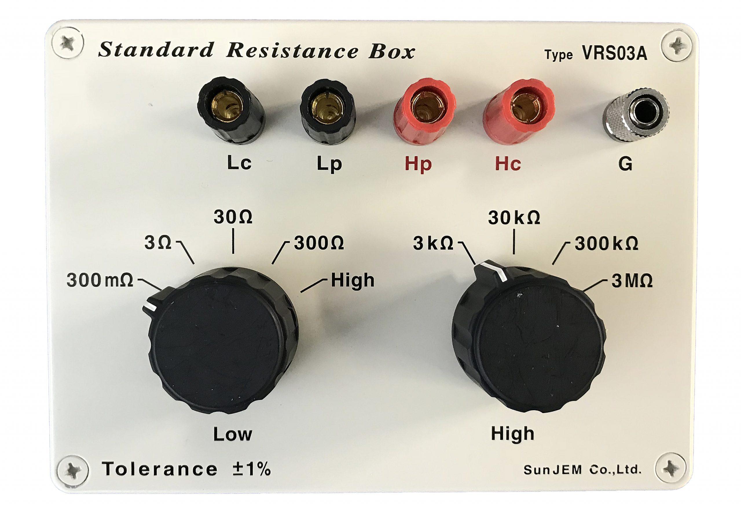 標準抵抗BOX                VRS02A/ VRS03A